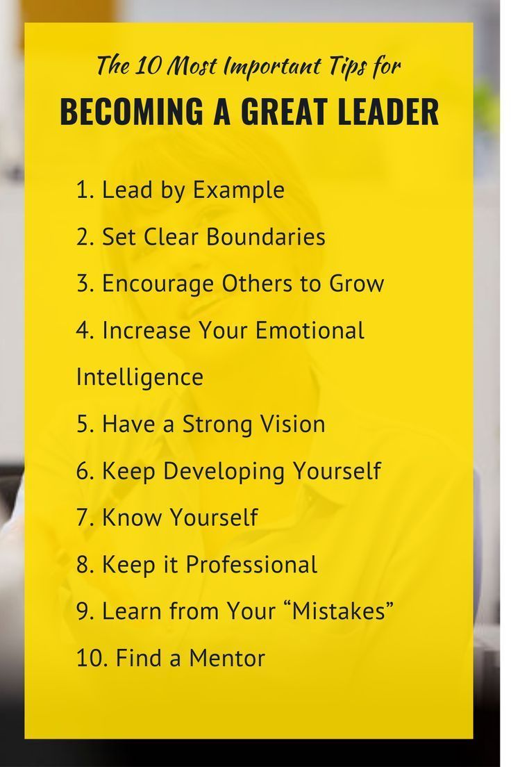 You will learn top 10 tips on developing a leadership mentality, the different leadership styles, so