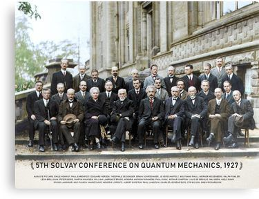 1927 Canvas print Fifth Solvay Conference colored
