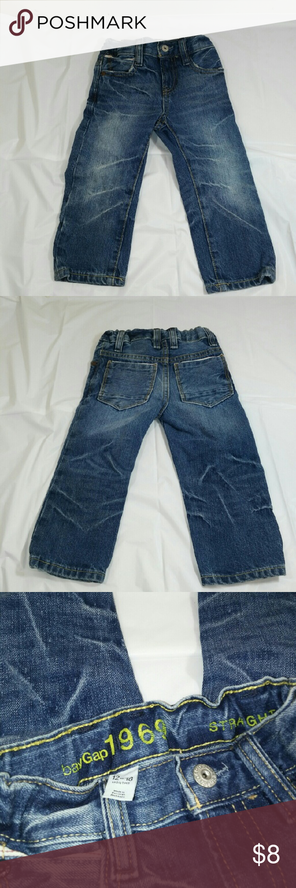Baby gap boy light denim jeans Baby gap straight  jeans Light blue Size:12/18months Condition:used light wear smoke free home baby gap Bottoms Jeans
