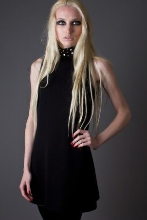 b080e90bce Ultra chic little black dress with rhinestone detail. Elegant and simple  with a touch of