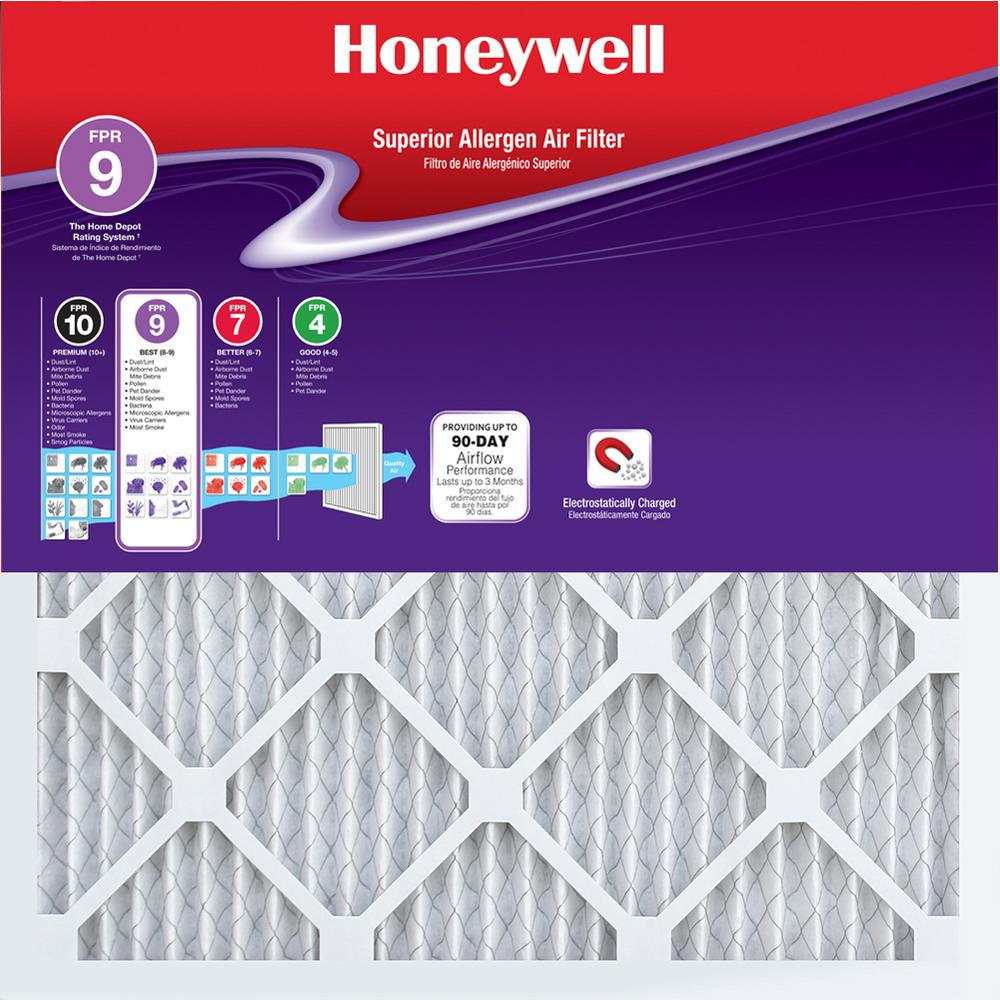 Honeywell 20 In X 20 In X 1 In Superior Allergen Pleated Fpr 9 Air Filter 12 Pack Air Filter Sizes Air Filter Portable Air Purifier