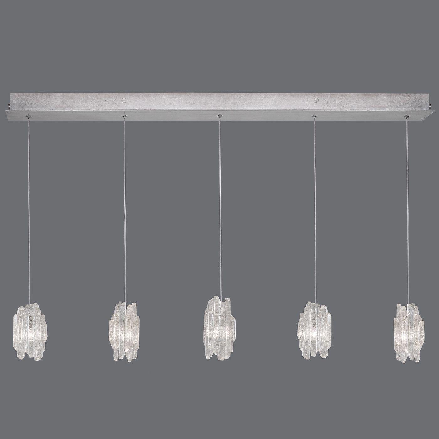 Fine art lamps natural inspirations 5 lights quartz clusters pendant