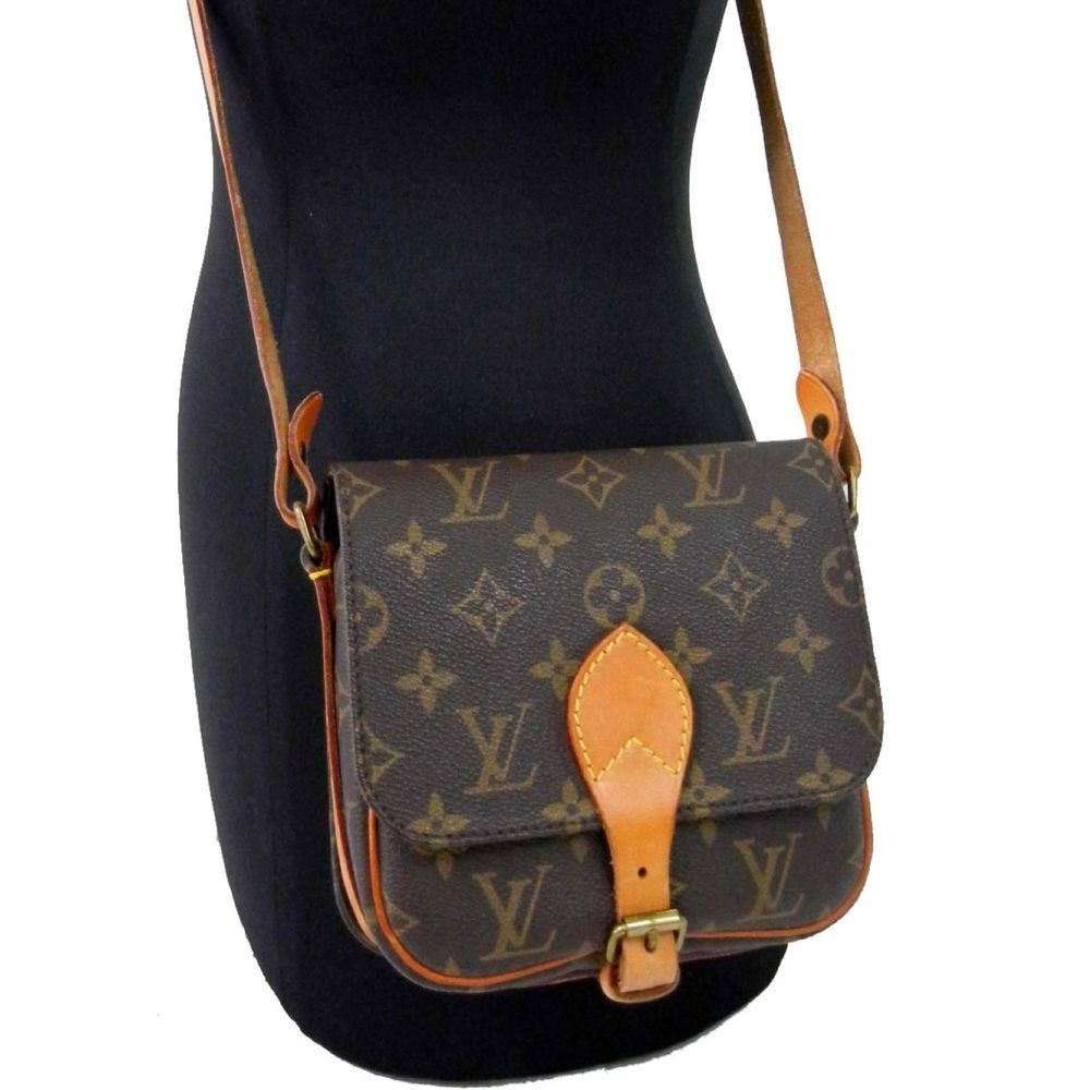 Authentic! LOUIS VUITTON Monogram CARTOUCHIERE PM LV Vintage Shoulder Bag  M51254  LouisVuitton  ShoulderBag 467b6029c6813