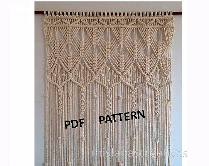 Pdf Instructions Macrame Curtain Handmadecrame Wall Hanging