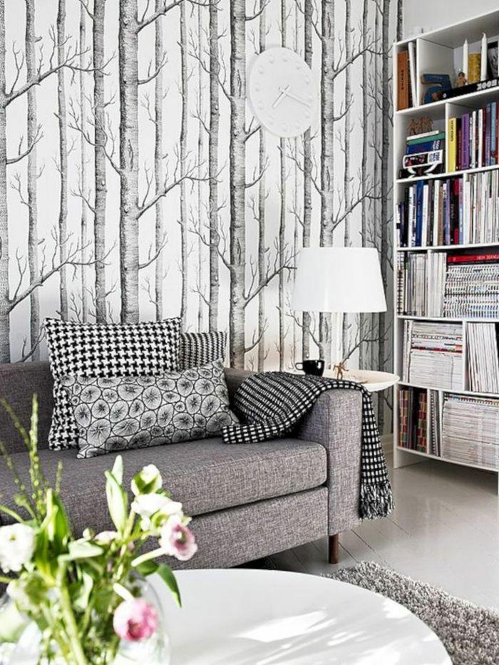 ▷ 1001 + ideas sobre decoración salón gris y blanco Pinterest