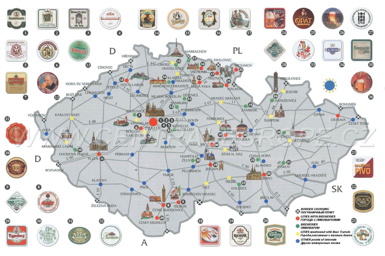 Beer Map of Czech Republic | Beer Infographics | Czech beer ...