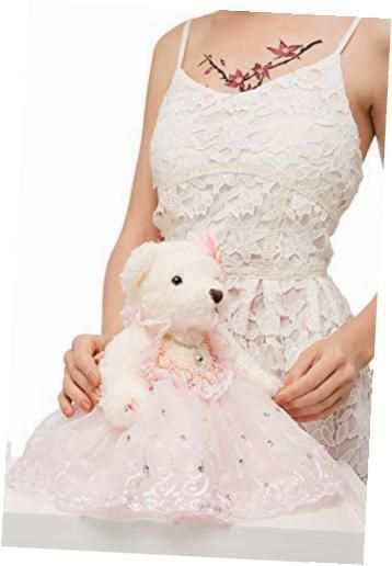 """Cool Awesome bride teddy bear in pink tutu dress wedding stuffed animal soft plush toy 10"""" 2017-2018 Check more at http://24shopping.gq/fashion/awesome-bride-teddy-bear-in-pink-tutu-dress-wedding-stuffed-animal-soft-plush-toy-10-2017-2018-3/"""