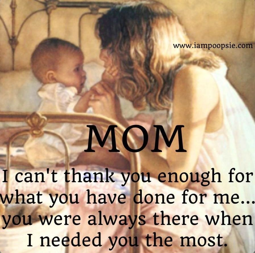 Love Quotes For Mom: Thanks Mom Quote Via Www.IamPoopsie.com
