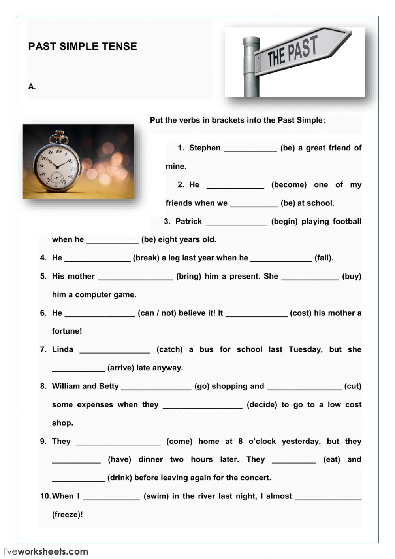 Irregular verbs interactive and downloadable worksheet