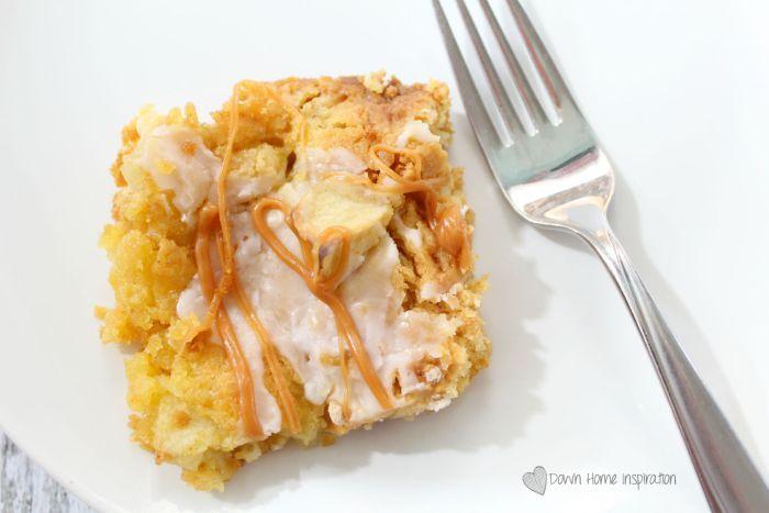 5 Ingredient Apple Dump Cake - Down Home Inspiration