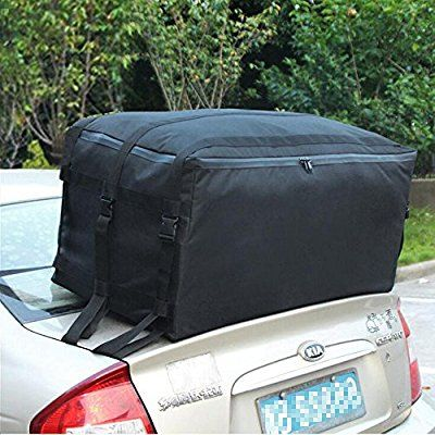 Tancendes Oxford Waterproof Car Top Carrier Car Roof Cargo Bag Car Top Rack Dust Bags Car Trunk Soft Large Luggage Large Luggage Packing Luggage Waterproof Car