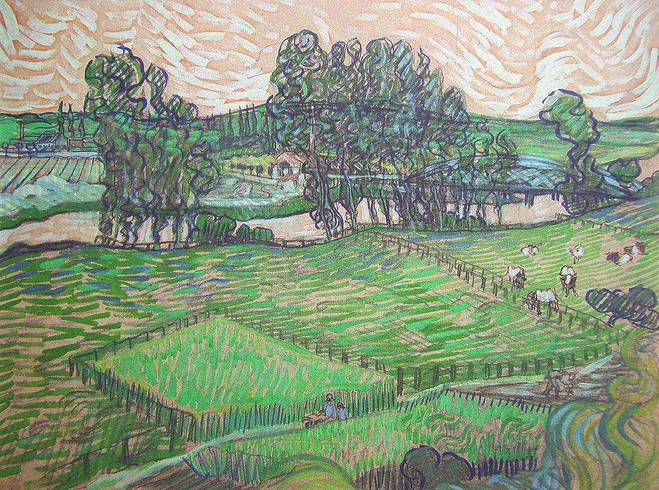 Vincent Van Gogh Landscape With Bridge Across The Oise 473 X