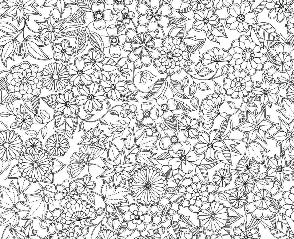 Dibujo floral. Dibujos de colorear para adultos.   colorear ...