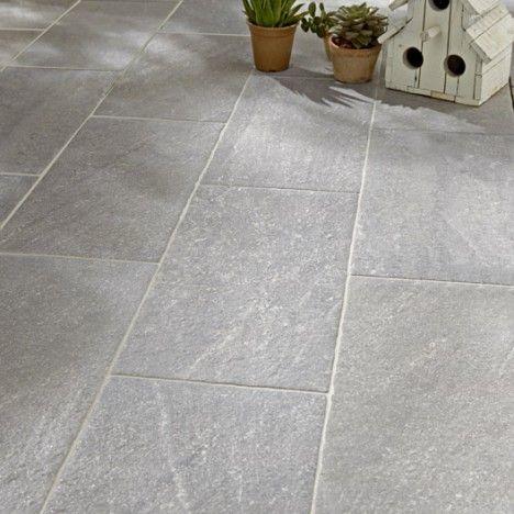 19,95u20ac m2 Carrelage extérieur Stone en grès cérame émaillé, gris - Dalle De Beton Exterieur