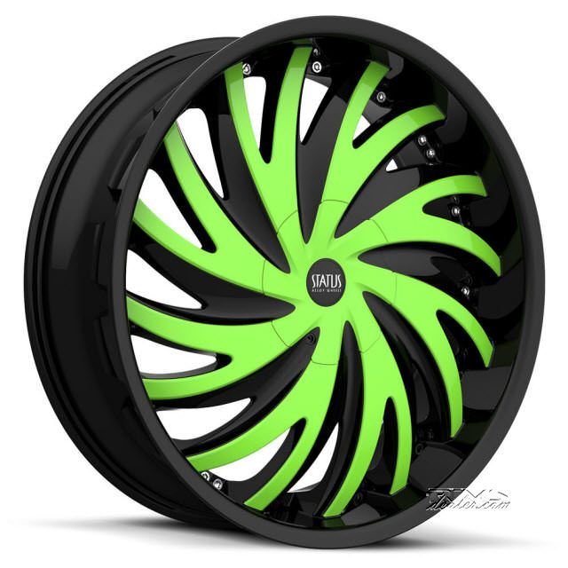 Rim Shop Near Me >> Status Hurricane S836 Custom Painted Rims And Tires Packages