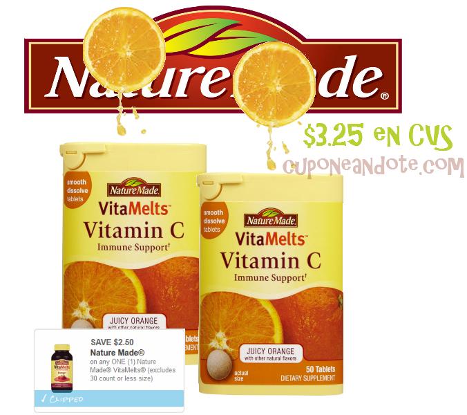 Nature Made VitaMelts Vitamin C a solo $3.25 en CVS