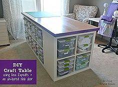 diy craft table, craft rooms home offices, diy, furniture furniture revivals, Finished