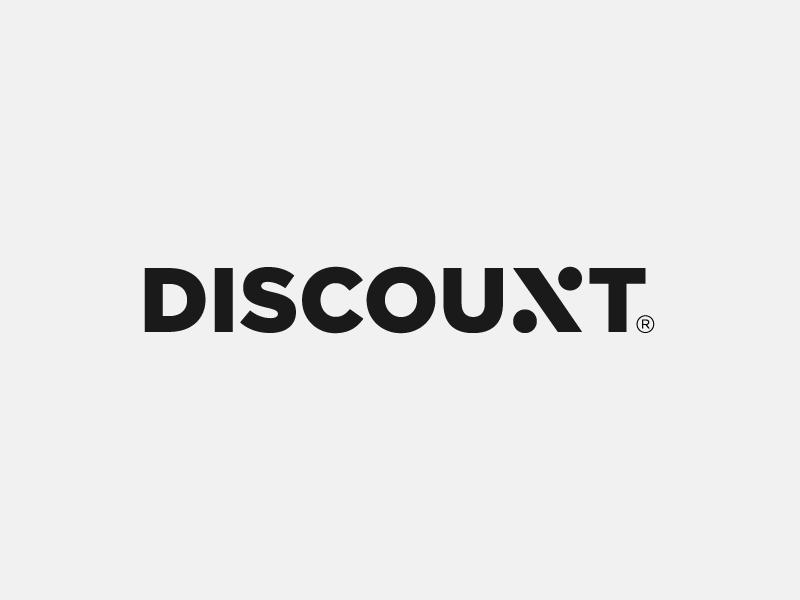 Discount Logotype by Paulius Kairevicius