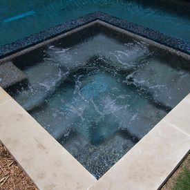 Hot Tub With Glass Tile Swimmingpool Com Spa Hot Tubs Glass Tile Hot Tub
