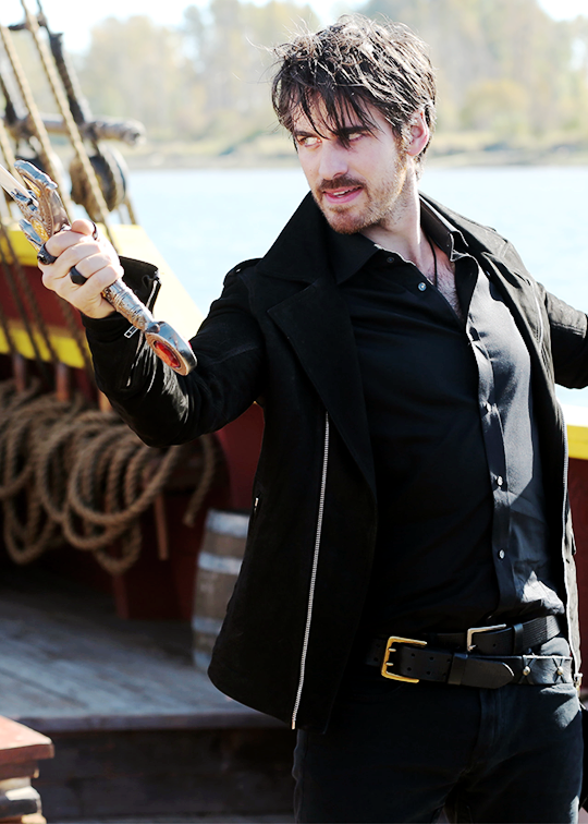 5.11- Dark Hook with Excalibur.  I should not find him so much more attractive with the Wild Dark Hair, but I do.