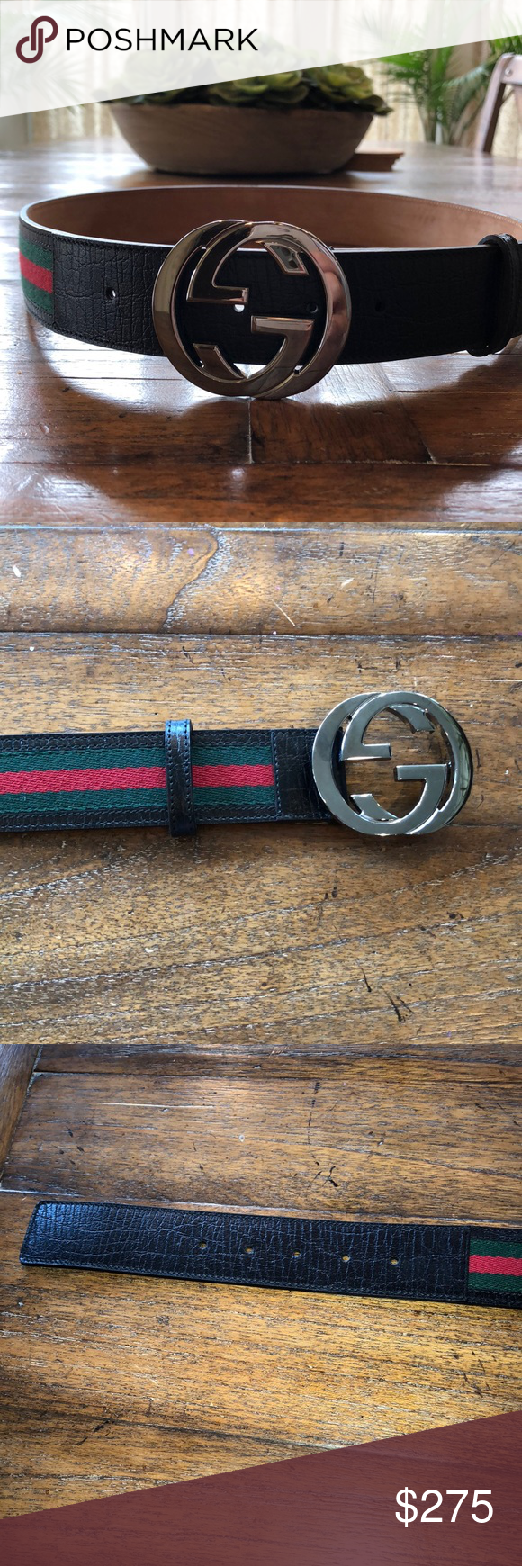 5c8b7524fe6 Spotted while shopping on Poshmark  Authentic GUCCI Signature Web Belt With  G buckle!  poshmark  fashion  shopping  style  Gucci  Other