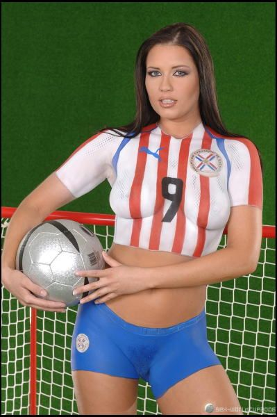 body paint soccer Sexy