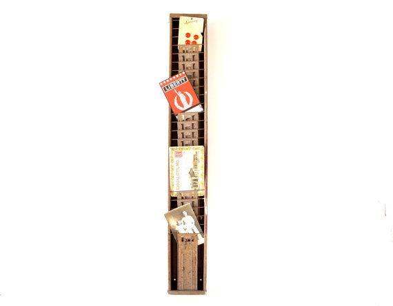 Vintage Industrial Time Card Holder  Timecard Rack By Thirdshift