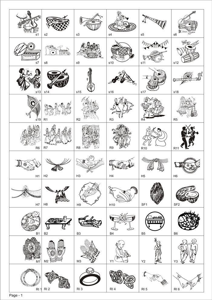 Indian Wedding Symbols Google Search Dampee Pinterest