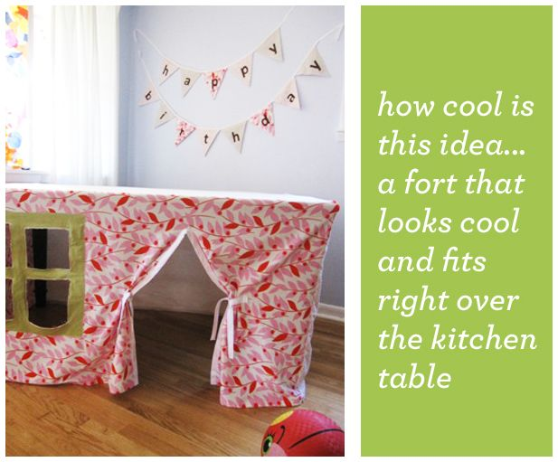 Kitchen Table Fort