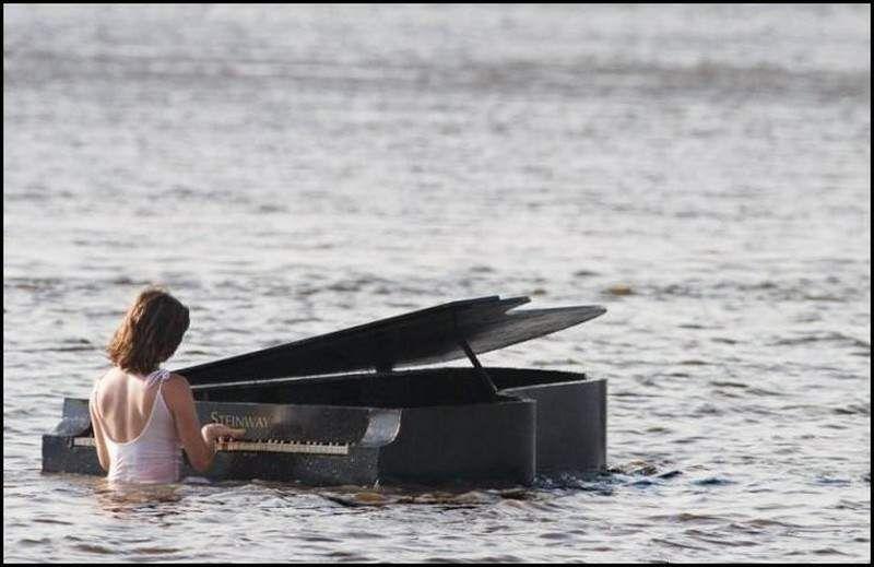 Concert d'eau pour piano aqueux