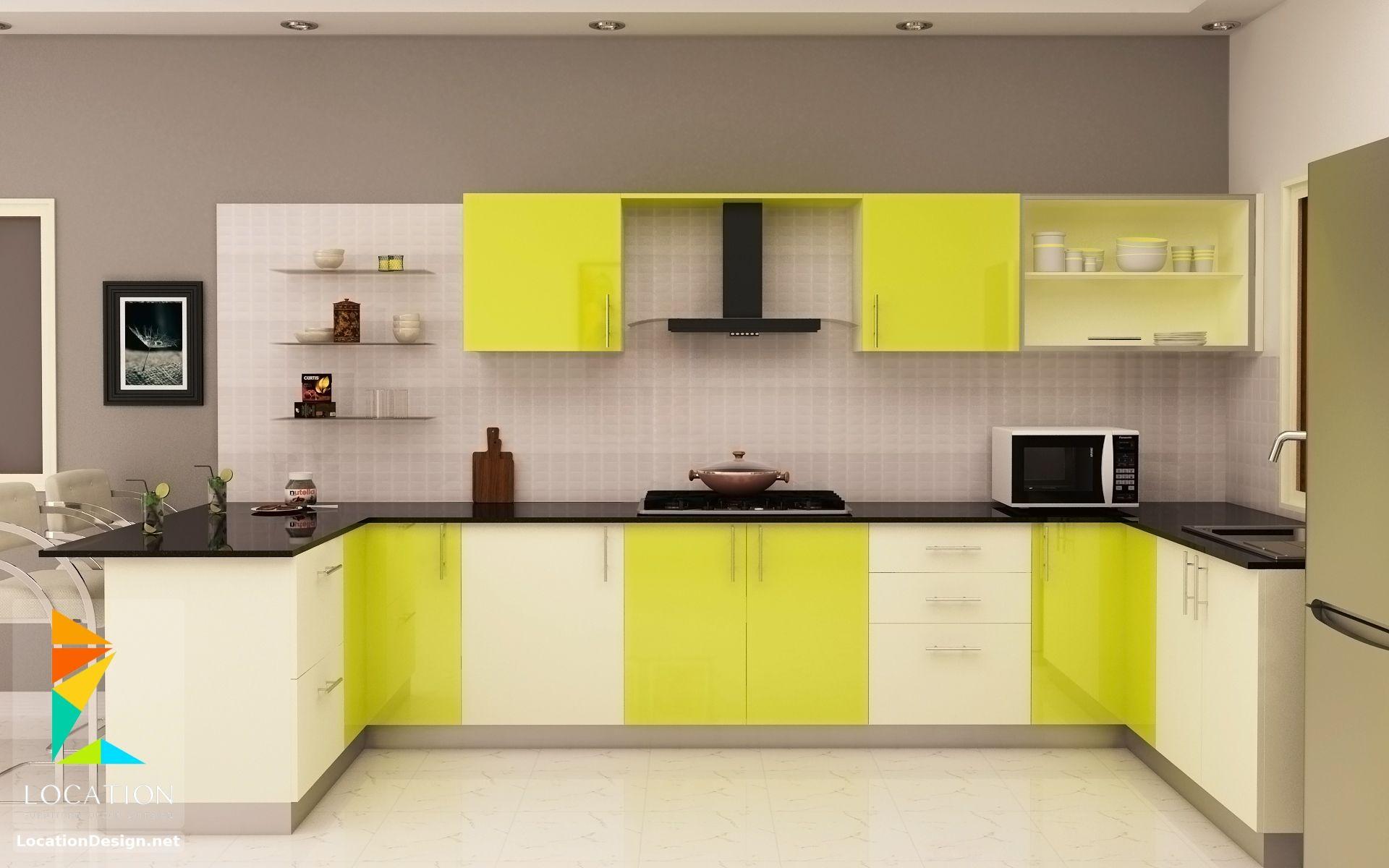 أحدث كتالوج صور تصميمات مطابخ مودرن من افضل الوان المطابخ 2019 2020 Kitchen Cabinets Color Combination Kitchen Cabinet Design Kitchen Remodel Layout