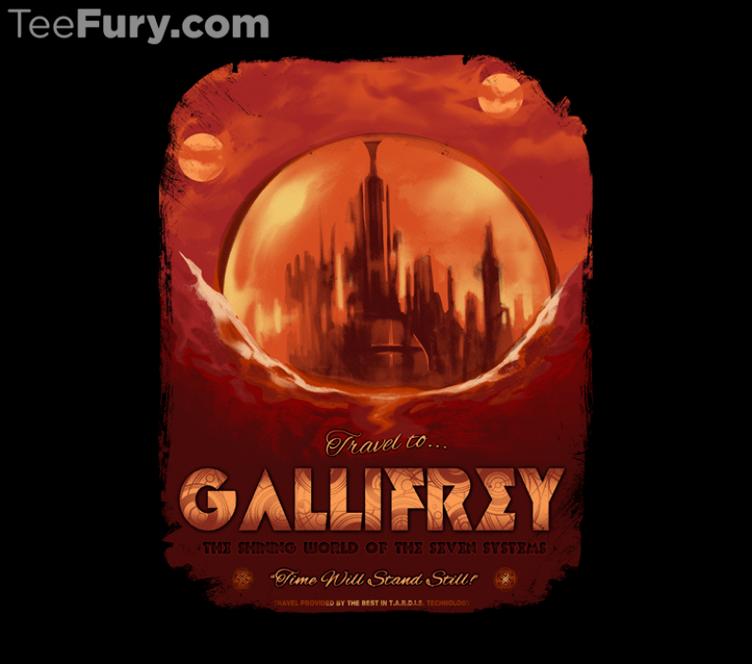 """Gallifrey"" by #MeganLara is available for $15. Get yours here: http://www.teefury.com/gallifrey/?utm_source=pinterest&utm_medium=referral&utm_content=gallifrey&utm_campaign=galleryinfocus?&c3ch=Social&c3nid=Pinterest"