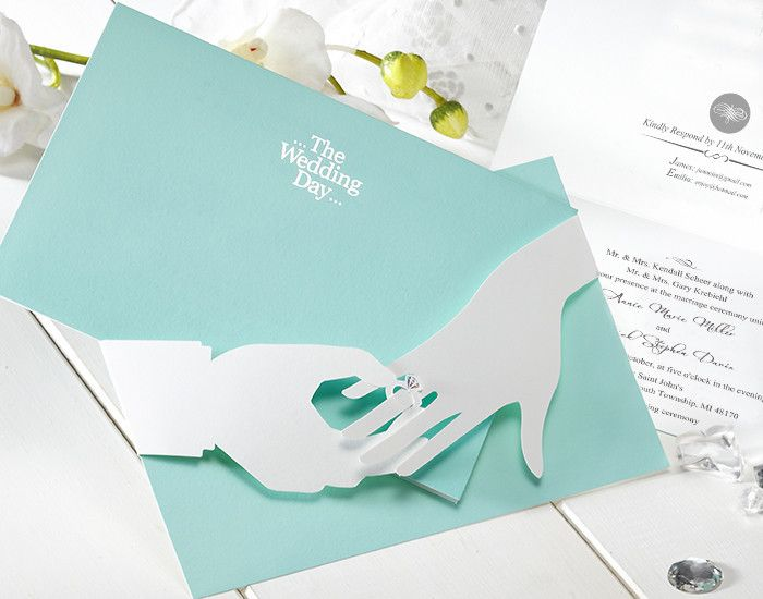 Mint blue 3d ring unique wedding invitations cho 2859 gorgeous creative design light carring the ring new wedding invitation cards blue wedding invitation cards freeshipping mainland stopboris Choice Image
