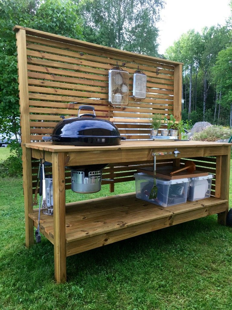 DIY Outdoor Kitchen. Outdoor grill station, Big green