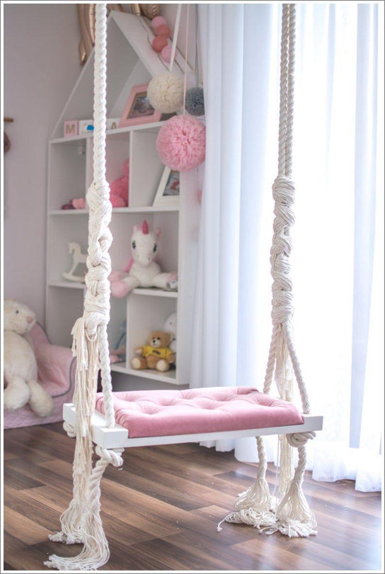Photo of OhSwing Medium 60×25 Swing on children's ropes Swing for kids. Hustawka dla dzieci.