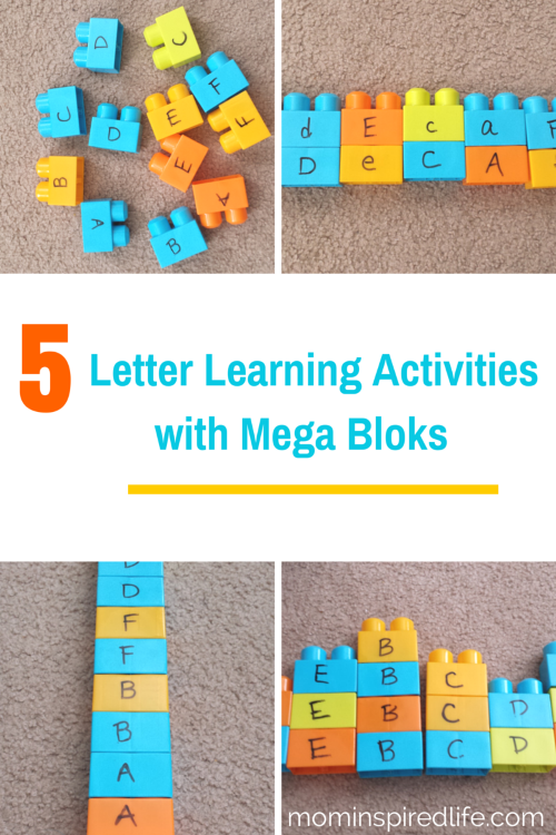 5 letter learning activities with mega bloks for preschoolers preschool letter recognition