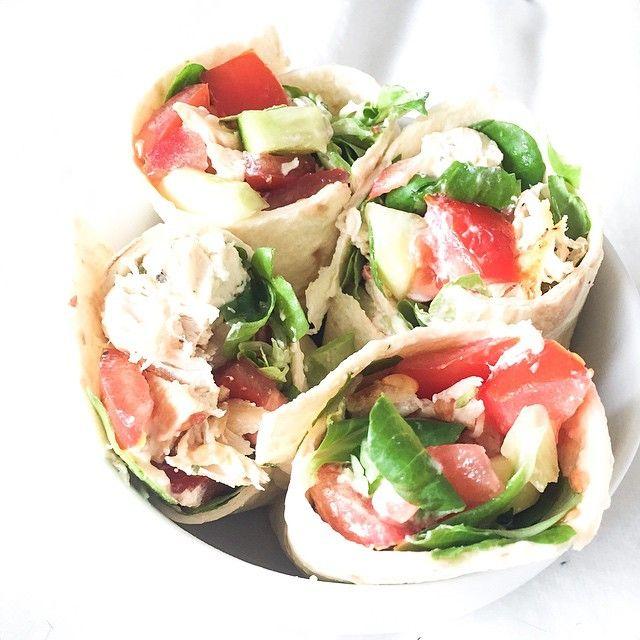 wraps homemade poulet • salade • tomates • concombre et boursin