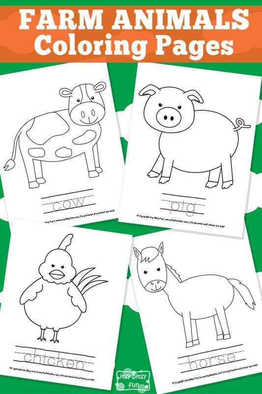 Farm Animal Coloring Pages | Gestión del aula, Jardín de infantes y ...