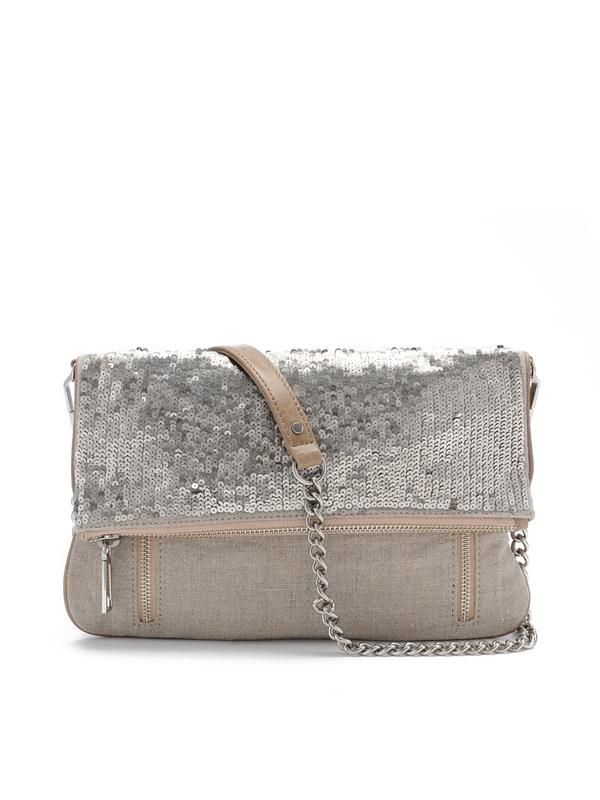 rebecca minkoff sparkly canvas clutch