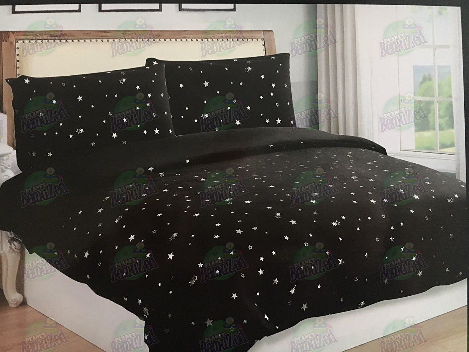 Star Starry Sky Night Duvet Quilt Cover Pillowcase S Bedding Bed Linen Set Cosysleep Single Black Amazon Co Uk Kitchen Bed Linen Sets Quilted Duvet Bed