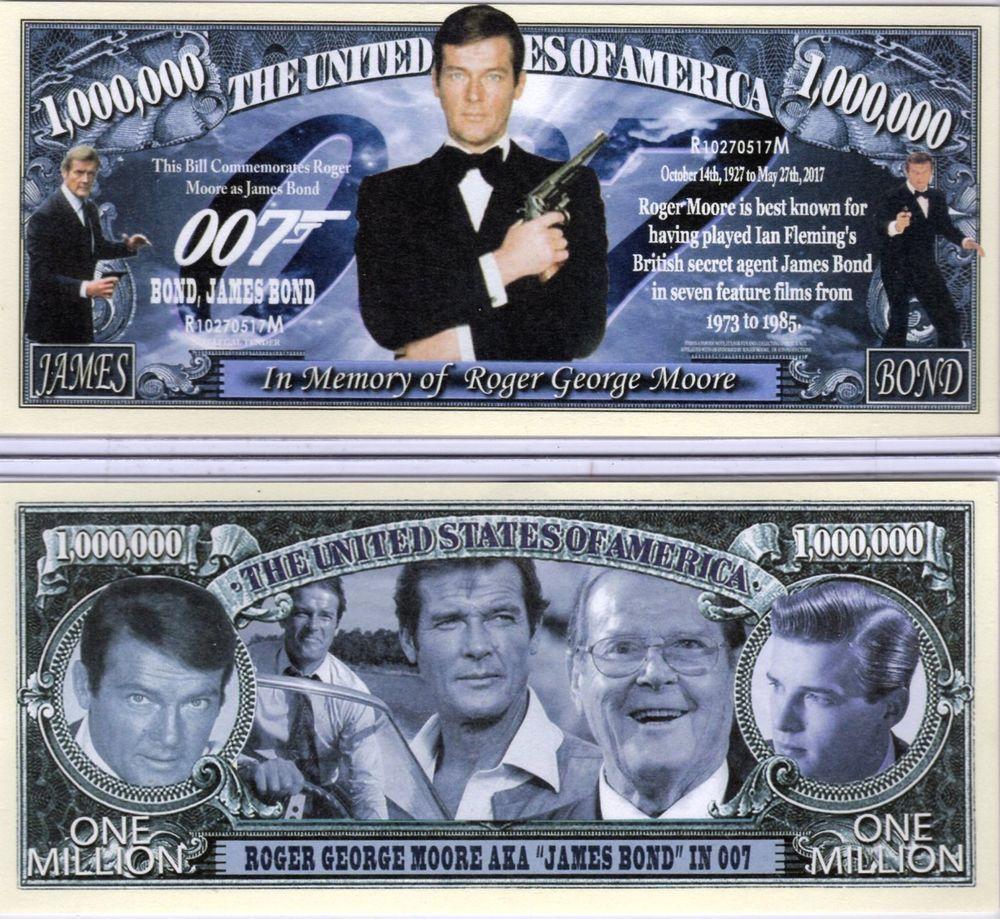 Sean Connery James Bond Novelty Banknotes