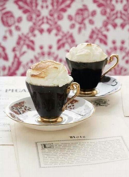Chambord Coffee and Whip Cream