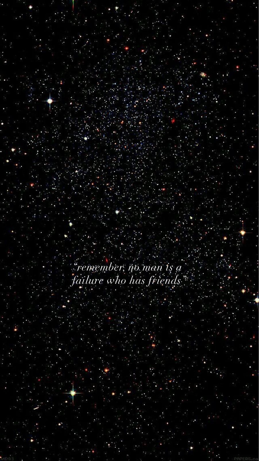Remember No Man Is A Failure Who Has Friends Quote Wallpaper