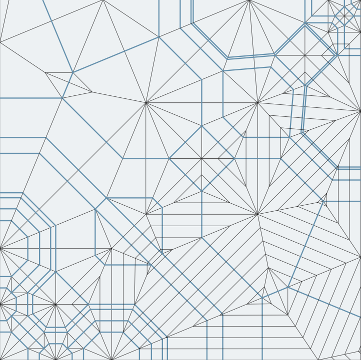 Geometric Line Design Patterns : Origami crease patterns could create an original