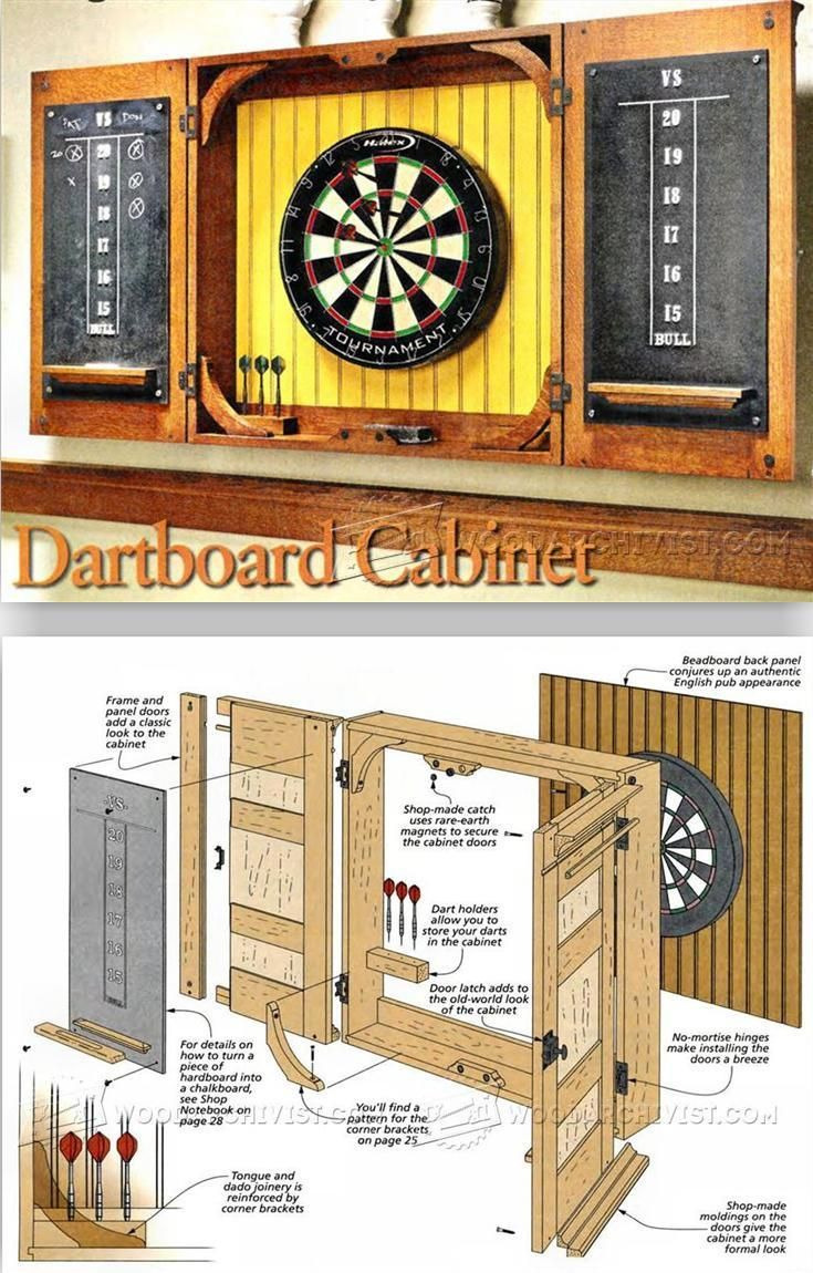 Dartboard Cabinet Plans   Woodworking Plans And Projects | WoodArchivist.com