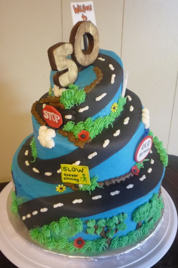 over the hill birthday cake Google Search Cakes Pinterest
