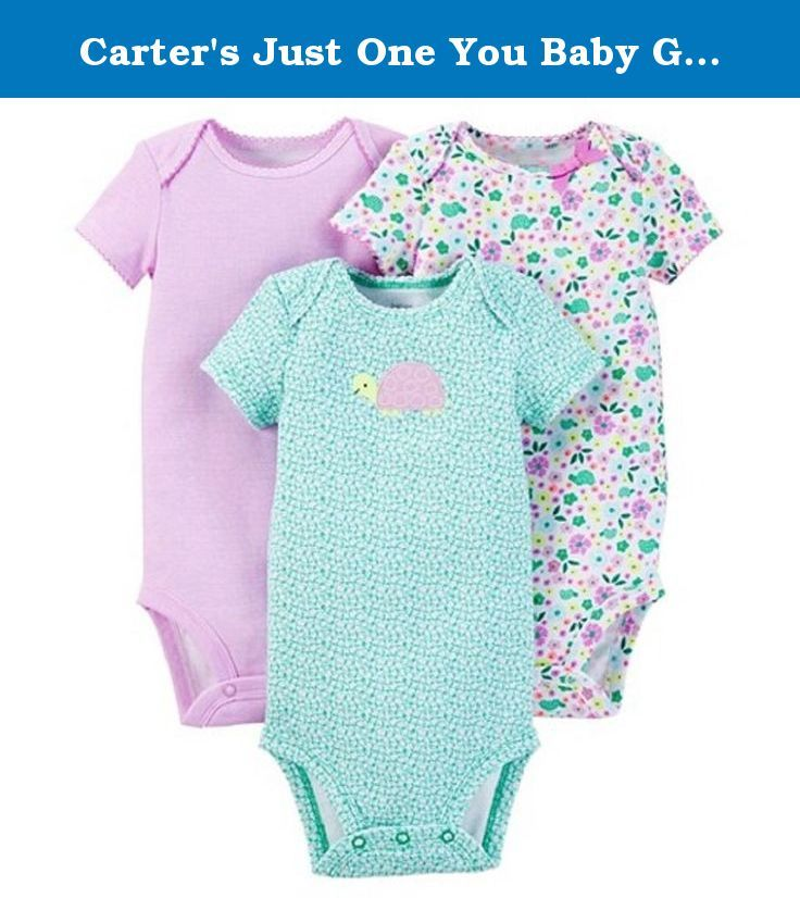 2638579d4 Carter's Just One You Baby Girls' 3-Pack Floral Bodysuits- Purple (6 ...