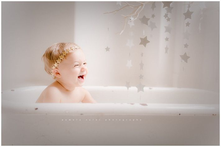 Pittsburgh child photographer #fallmilkbathbaby vintage enamel tub, milk way , star milk bath, one year old , whimsical session #fallmilkbath