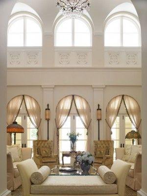 white living room cortinas para ventanas grandes Pinterest