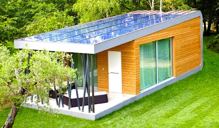 Super Thin Solar Panels Crown The Spectacular Green Zero Modular Getaway In Italy Small House Design Plans Tiny House Design Small House Design